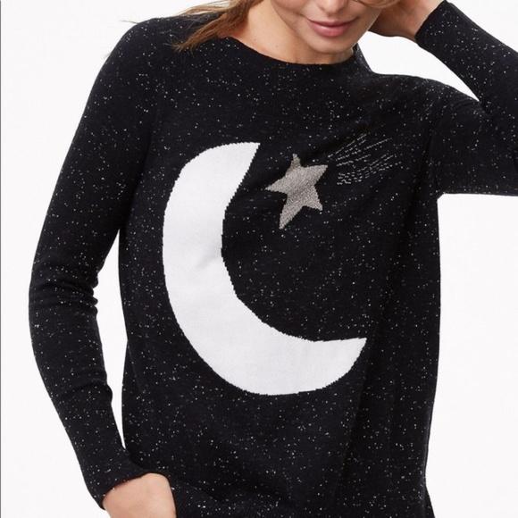 LOFT Sweaters - LOFT Black Moon & Star Sweater Wool Blend